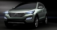 Images and spy shots of the new 2013 Hyundai Santa Fe